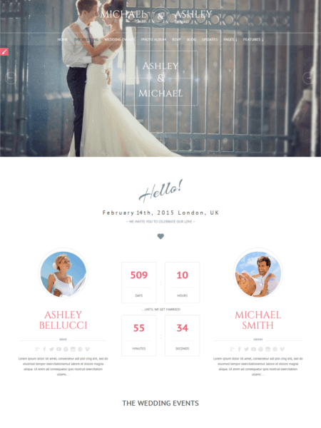 honeymoon 20 Stunning WordPress Wedding Themes for 2017