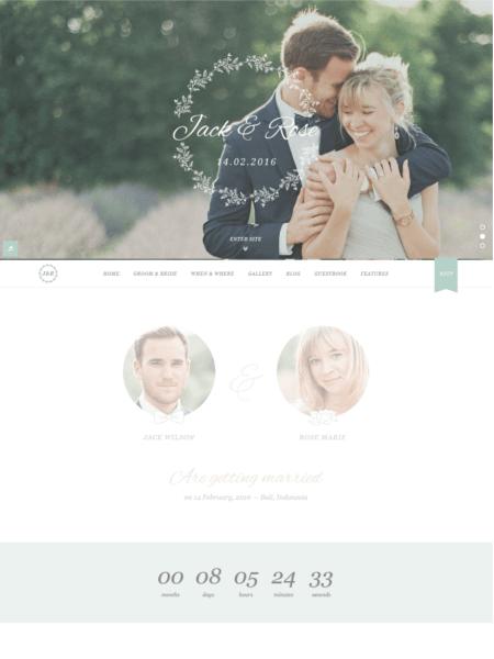 jackrose 20 Stunning WordPress Wedding Themes for 2017