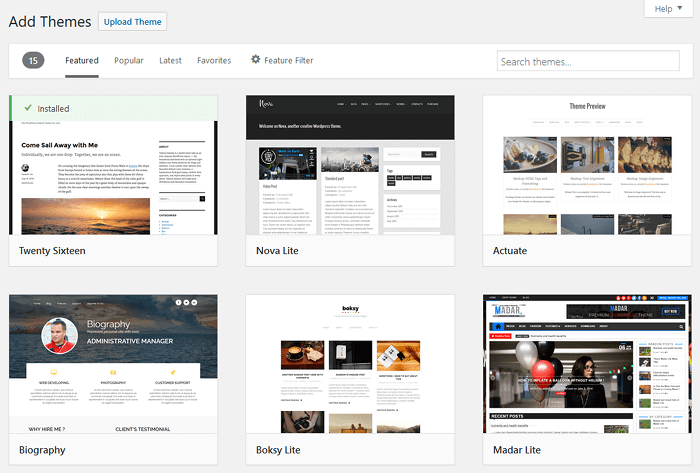 add-themes How to Start a WordPress Blog – The Definitive Guide