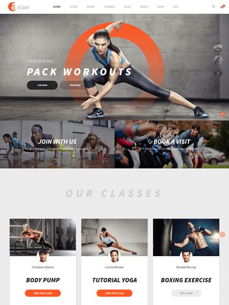 aslan 11 Powerful Sports & Fitness WordPress Themes for 2017