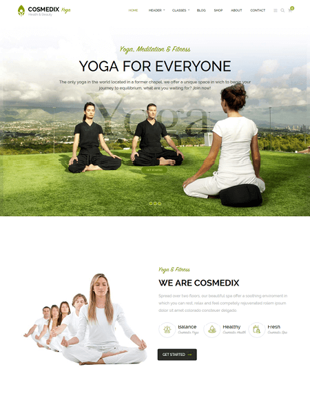 cosmedix 22 of the best Yoga & Fitness WordPress Themes for 2017