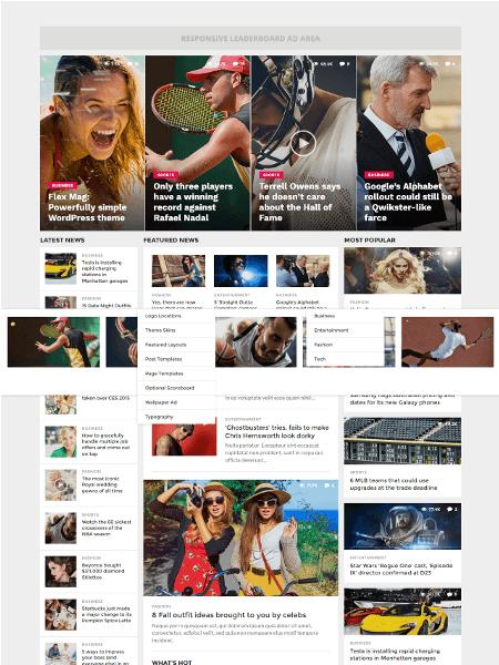 flex 30 Newsworthy Magazine WordPress Themes for Blogs & Magazines