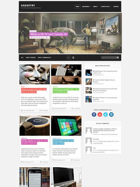gadgetry 30 Newsworthy Magazine WordPress Themes for Blogs & Magazines
