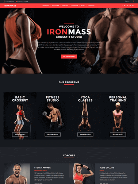 ironmass 11 Powerful Sports & Fitness WordPress Themes for 2017