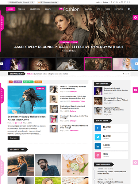top-news 30 Newsworthy Magazine WordPress Themes for Blogs & Magazines
