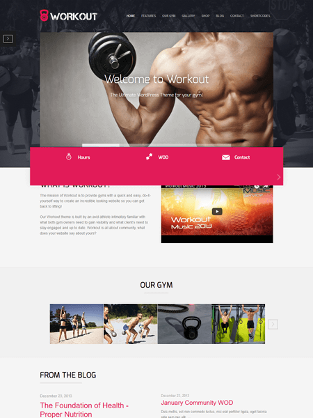 workout 11 Powerful Sports & Fitness WordPress Themes for 2017