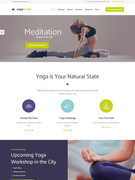 yoga-studio 22 of the best Yoga & Fitness WordPress Themes for 2017