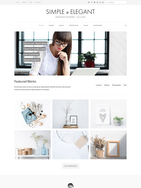 simple-and-elegant 18 Best Minimalist WordPress Themes For Business, Portfolio, and Blogs
