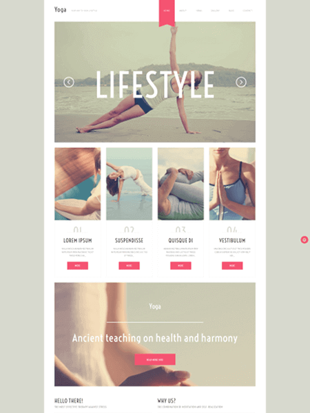 yoga 22 of the best Yoga & Fitness WordPress Themes for 2017