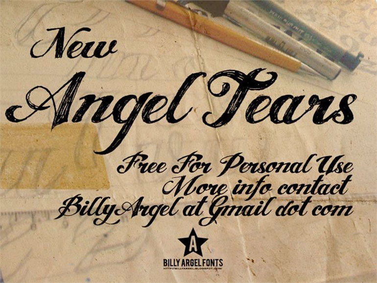 angel-tears 25 Free Tattoo Fonts with Style