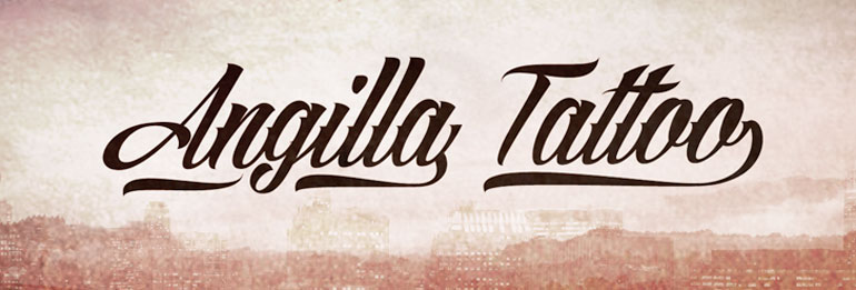 angilla 25 Free Tattoo Fonts with Style