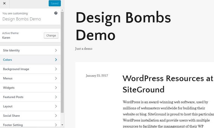 customize-theme-step-1 How To Make A Website with WordPress – The Ultimate Guide