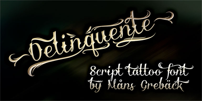 deliquente 25 Free Tattoo Fonts with Style