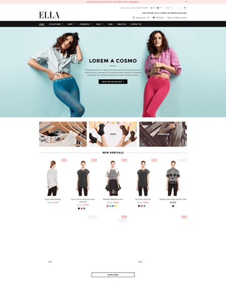ella 15 Top Shopify Themes for Your Online Store