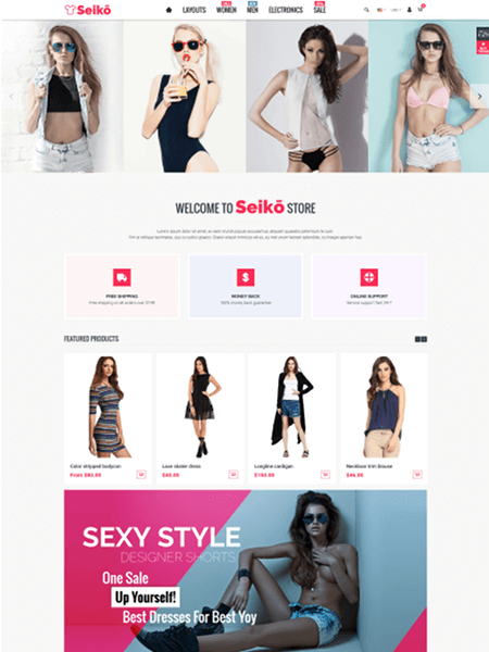 seiko 15 Top Shopify Themes for Your Online Store