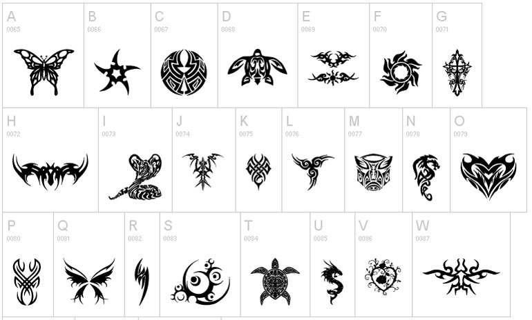 tribal-tattoo 25 Free Tattoo Fonts with Style