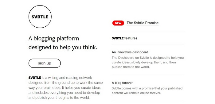 svbtle Top 15 Blogging Platforms – A Detailed Comparison