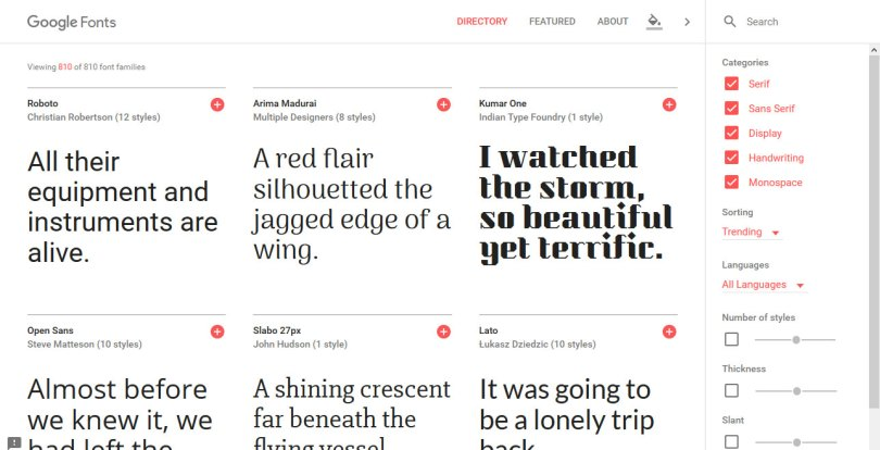 Google-fonts-homepage 6 Easy Ways to Add Google Fonts to WordPress for Custom Typography