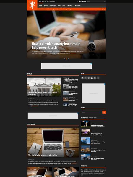 Tabloid 16+ Best AdSense Optimized WordPress Themes