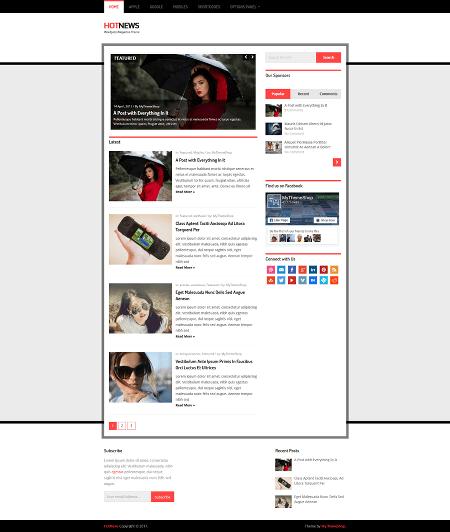 hotnews 16+ Best AdSense Optimized WordPress Themes