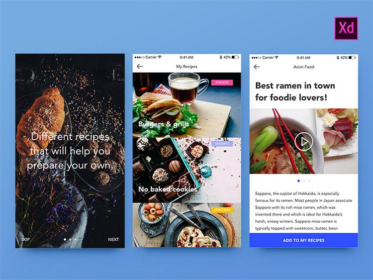 06-foodies-ui-kit 22 Incredible Adobe XD Freebies For UI Designers