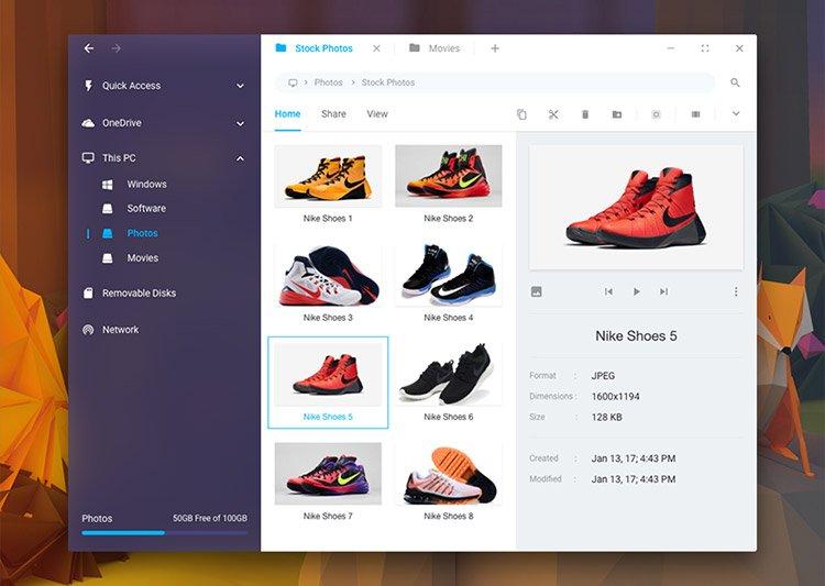09-windows10-ui-explorer-mockup 22 Incredible Adobe XD Freebies For UI Designers