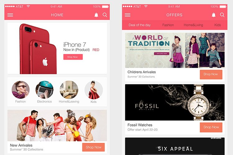 21-online-shopping-adobe-xd 22 Incredible Adobe XD Freebies For UI Designers