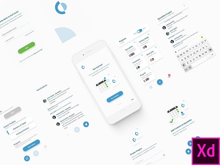22-adobexd-collaboration-app 22 Incredible Adobe XD Freebies For UI Designers