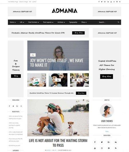 admania 16+ Best AdSense Optimized WordPress Themes