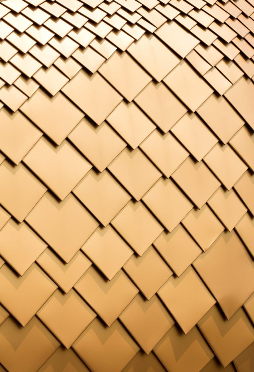 kitchen island set www.kitchen.com 鸟嘴一样的金色房子_设计邦-全球最早和最受欢迎的集建筑、工业、科技、艺术、时尚和视觉类的设计媒体