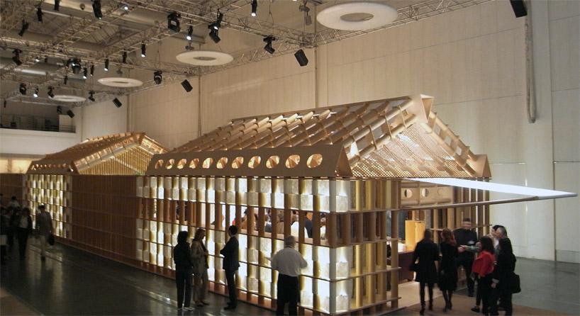 shigeru bans paper house pavilion for Herms