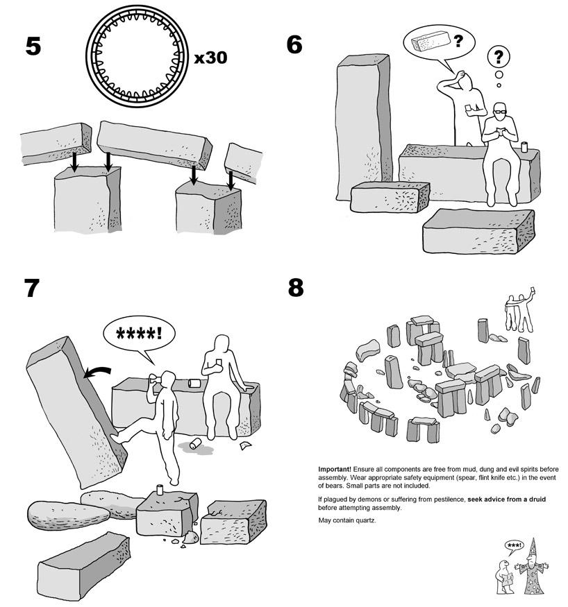 IKEA stonehenge infographic by justin pollard