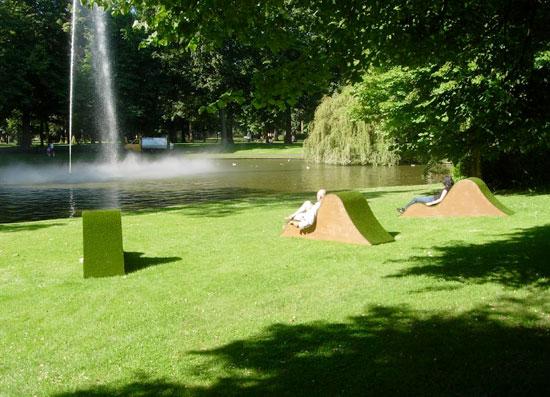 big man chairs linen accent chair lisette spee and tim van den burg: lawnge