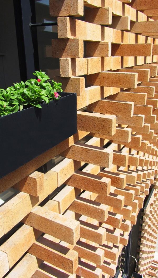 Brick Pattern House Alireza Mashhadimirza