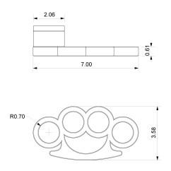 Brass Knuckles Diagram Wiring Ecu Hyundai Accent Designboom Com Handle Perspective 3 Dwg Jpg