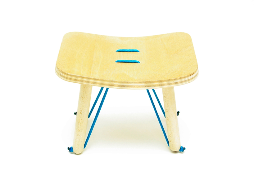 Alexandre Pain : Strapi, a minimal stool for kids