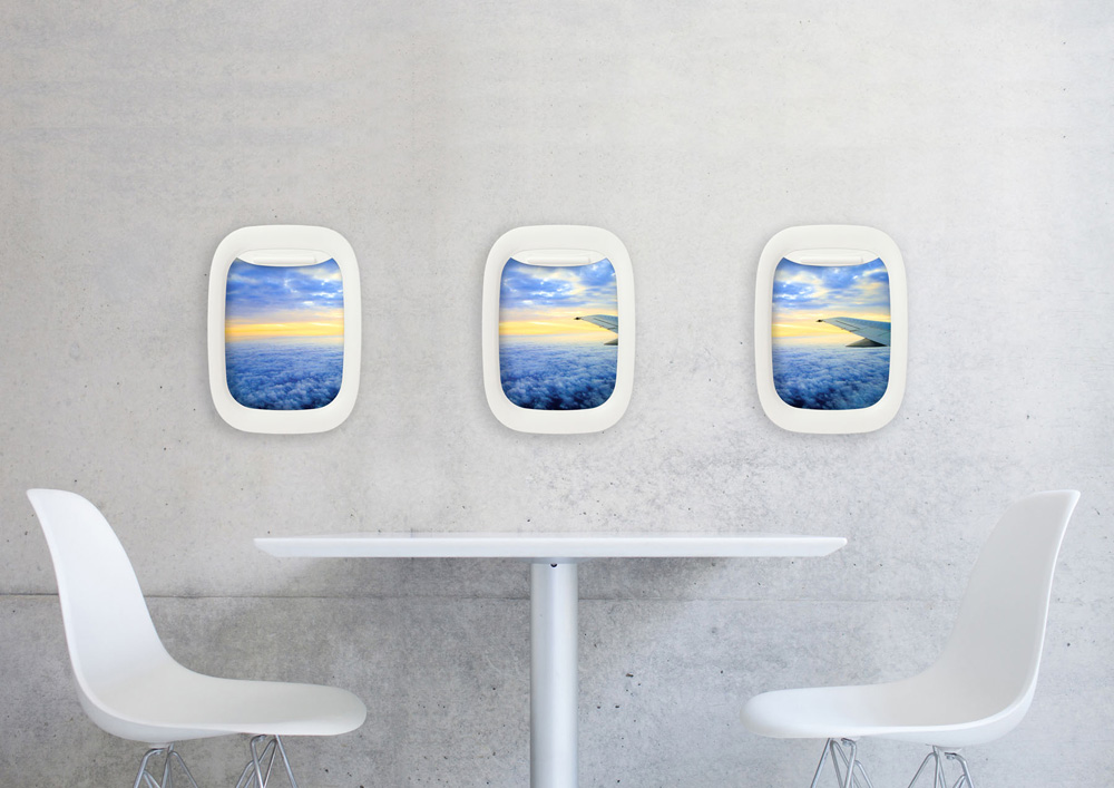 airframe picture frame brings the window seat indoors