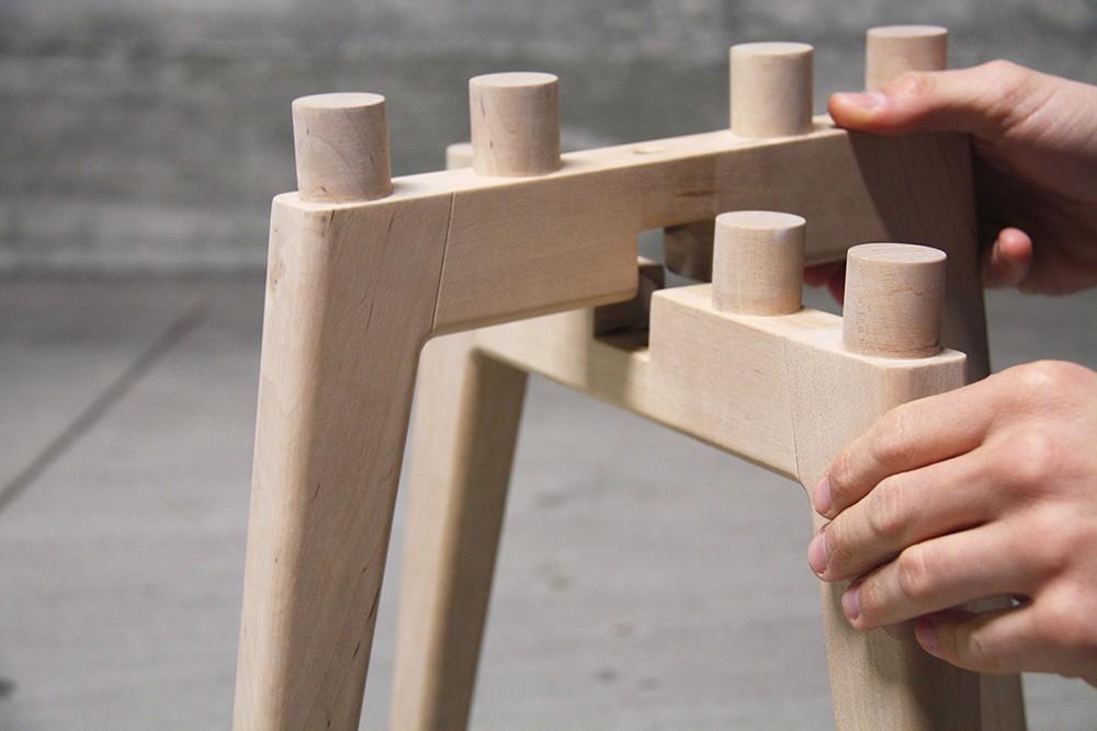 Frida  demountable stool and side table  Designboom Shop
