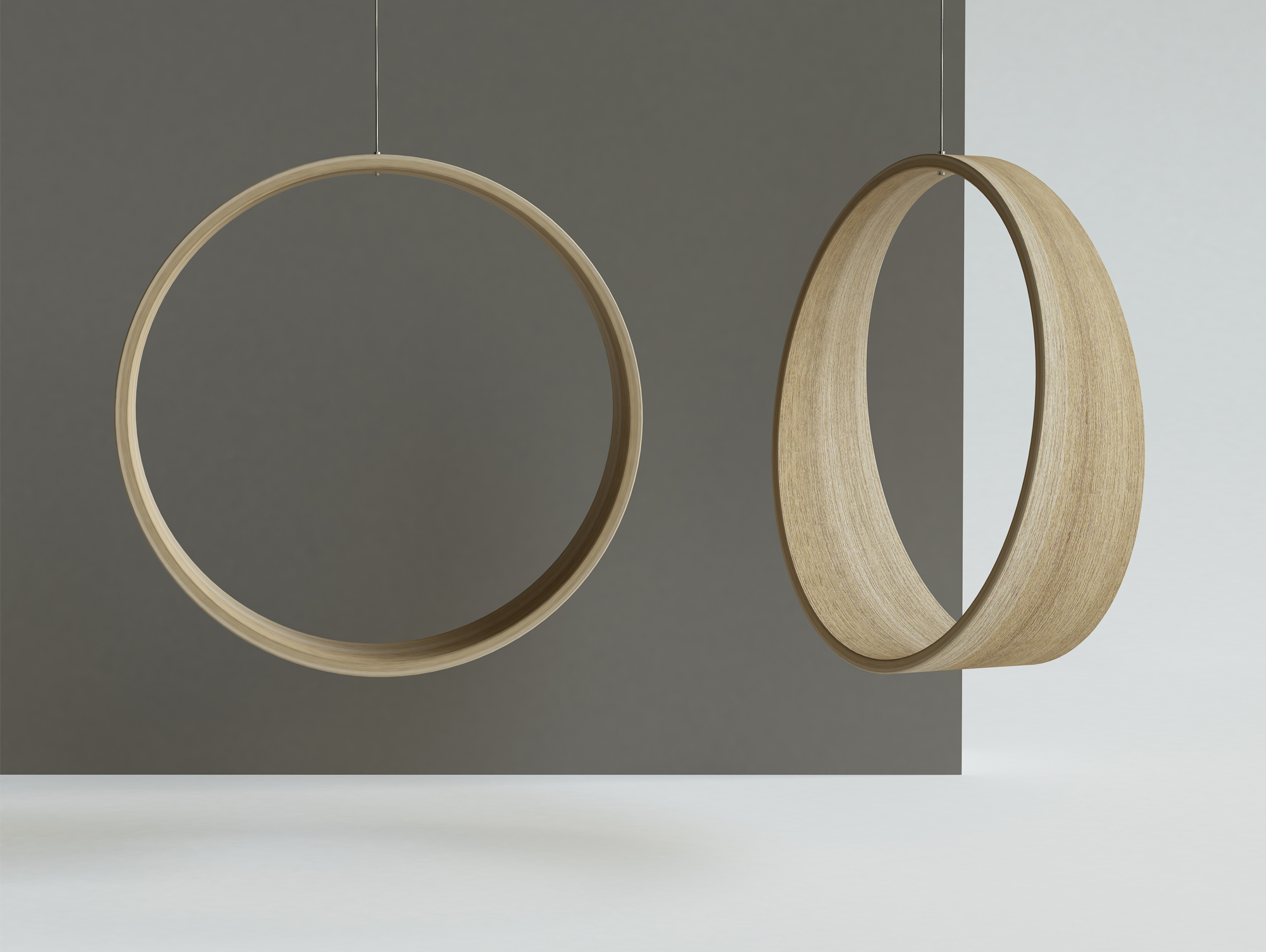 circle swing model n2 acts as a gentle rocking chair  Designboom Shop