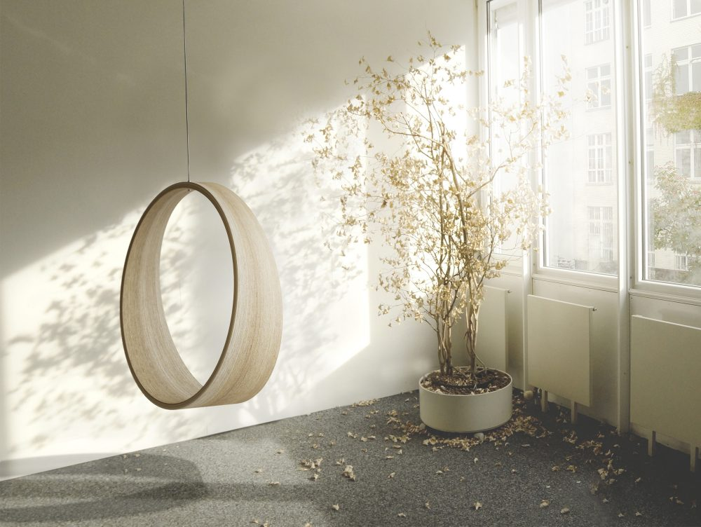 circle swing model n2 acts as a gentle rocking chair