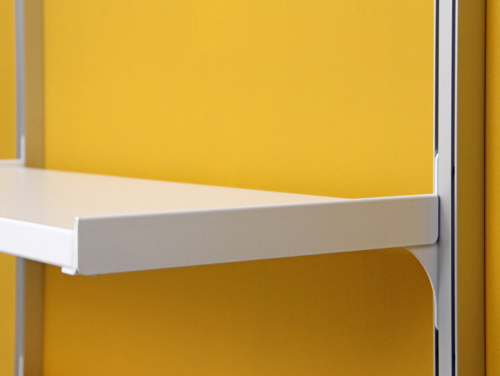 parallel slots system is a modular wallmounted shelving