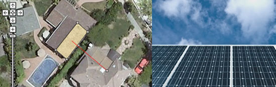 solar. solar roof, mirrors
