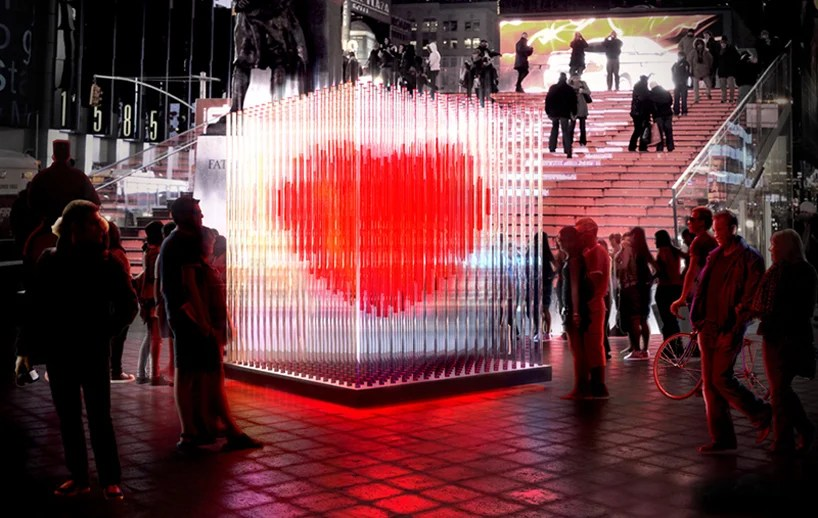 BIG architects valentines day sculpture in times square