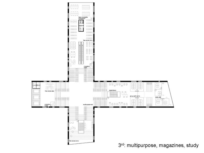 NL architects: NUKII library, ljubljana
