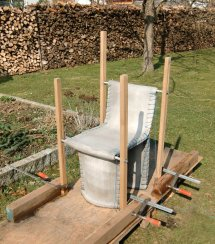 Florian Schmid Stitching Concrete Chair Bench