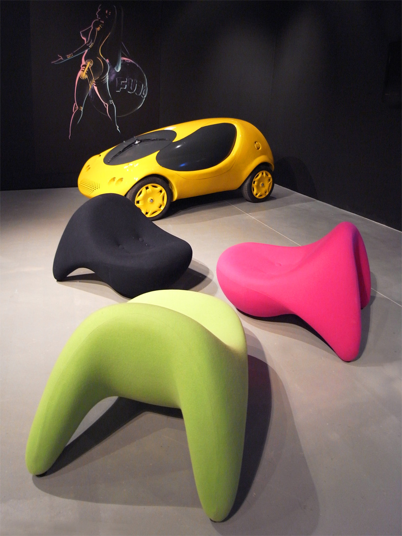 portable study chair super bungee luigi colani: retrospective biodesign codex show