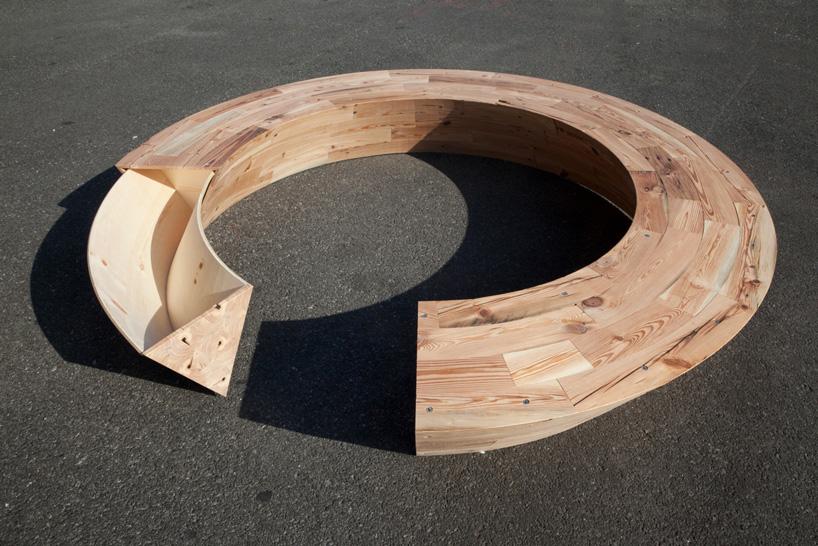louis lim round  round bench at wanted design