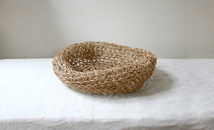 Recycled Paper Macrame By Corinne Muller And Piotr Oleszkowicz