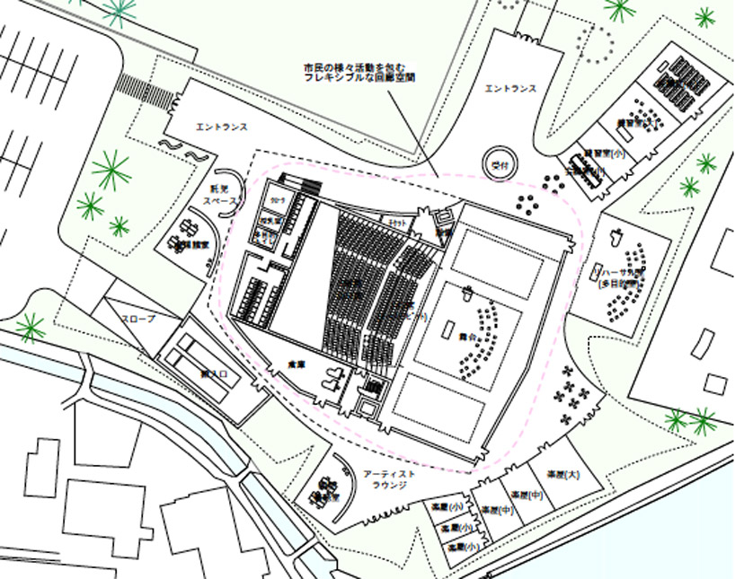 kazuyo sejima's winning proposal for tsuruoka city