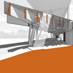 Architecture Section Diagram Dish Network Hopper Menomonee Valley Park Pavilion